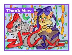 Thank You Note cards (Pkg of 4).