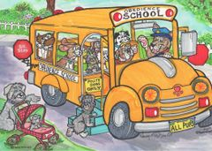 Postcard –School Bus.
