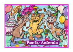 Greeting Card - Party Animals