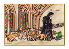 Greeting Card - Paws and Reflect.