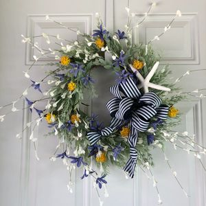 beachy wreath beach wreath starfish wreath beach wedding wreath condo wreath Annie Gray