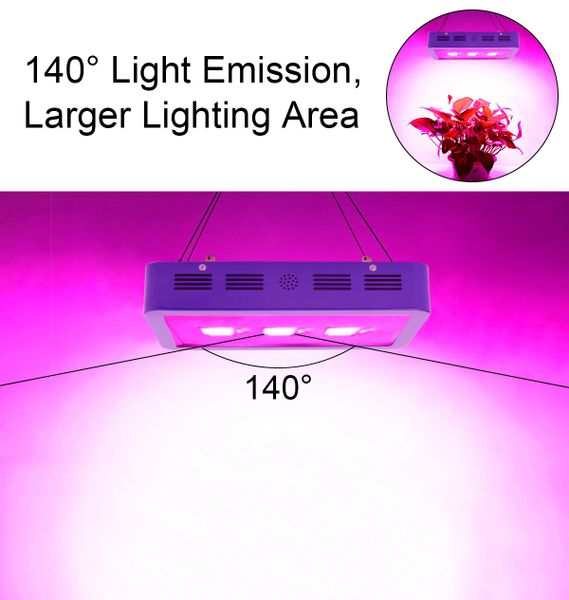BESTVA X3 900W Dimmable 12 Band LED Grow Light Full Spectrum Grow Lamp for  Greenhouse Hydroponic Indoor Plants Veg and Flower