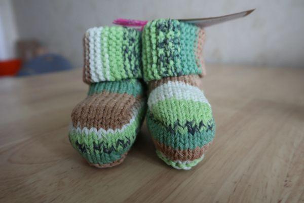 Booties, green - 0-3 months
