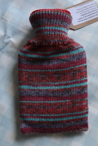 500ml Hotwater Bottle Reds, Purple, Turquoise