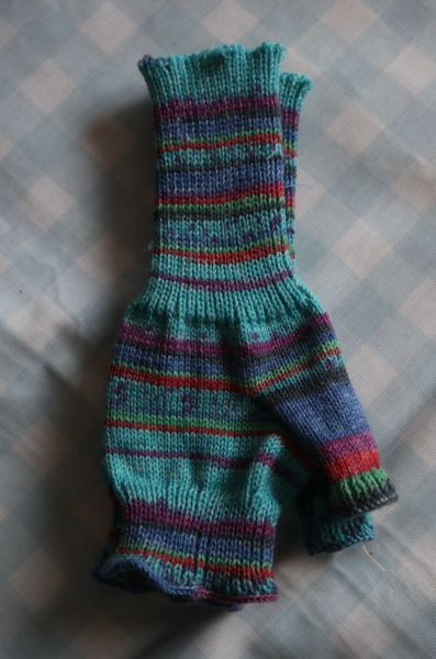 Armwarmers Turquoise Purple Green