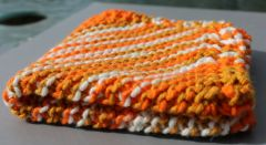 Multi Orange Cotton Dishcloth