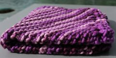 Multi Purple Cotton Dishcloth