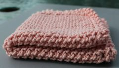 Salmon Pink Cotton Dishcloth