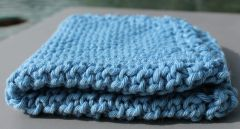 Sky Blue Cotton Dishcloth