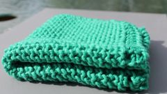 Teal Cotton Dishcloth