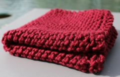 Maroon Cotton Dishcloth