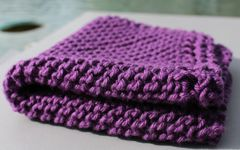 Purple Cotton Dishcloth