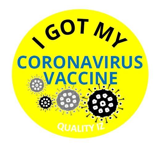 I Got My COVID-19 Vaccine Stickers,Vaccine Record Stickers 2x0.8 Inch 500 Pcs Per Roll