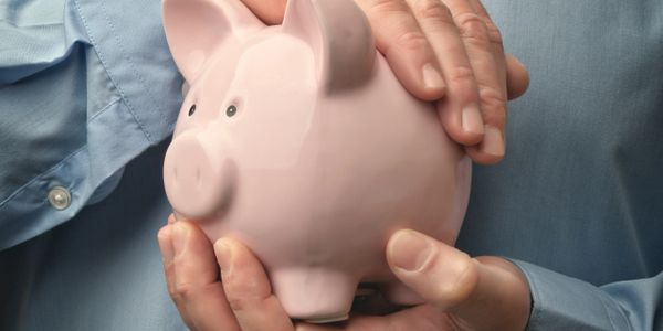 Save Money in Piggy Bank