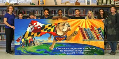 Art Residency with Gayle Mangan Kassal- Meade Middle School -  Ft. Meade, MD
