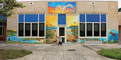 Art Residency with Gayle Mangan Kassal- Cape St Claire Elementary School -  Annapolis,  MD