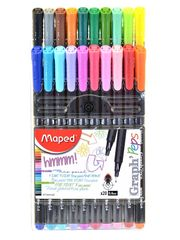 Maped Graph'Peps Felt Tipped Fine .4mm Point Pen 20pc Set (MDP749151)