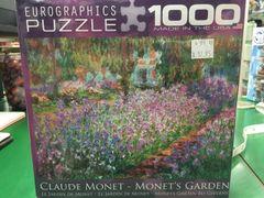 Claude Monet Monets Garden 1000pc Puzzle (EURO80004908)