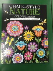 Chalk-Style Nature Coloring Book (SBK00078)