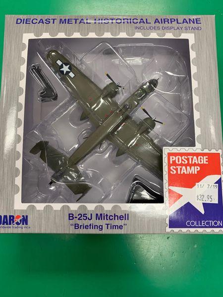 "B-25J Mitchell ""Briefing Time"" Die Cast Metal Historical Airplane"