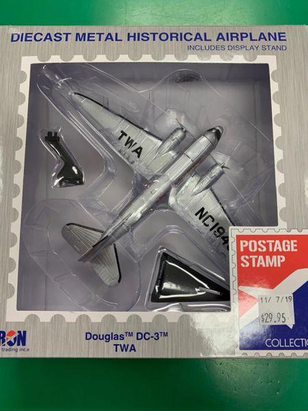 TWA Douglas DC-3 1/144 Die Cast Metal Historical Airplane