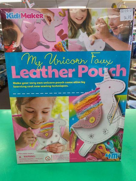My Unicorn Faux Leather Pouch Kit
