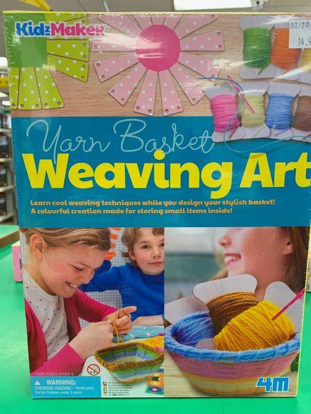 Yarn Basket Weaving Art Kit