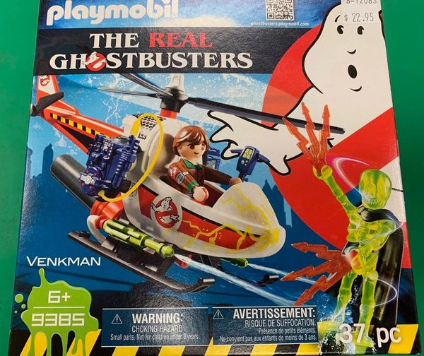 Playmobil The Real Ghostbusters Venkman w/Helicopter 37-piece Set