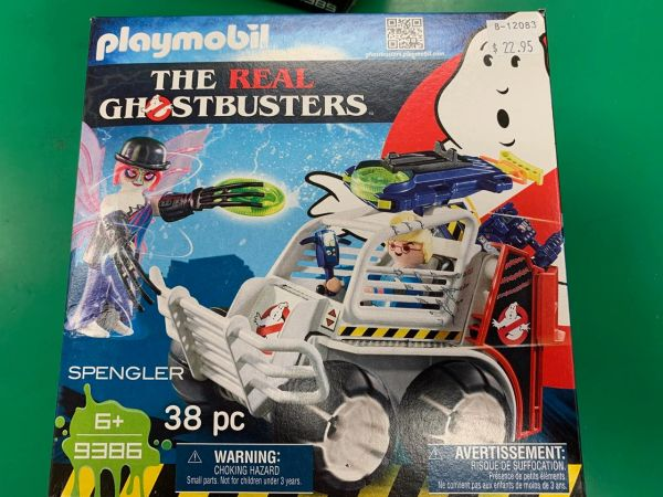 Playmobil The Real Ghostbusters Spengler w/Cage Car 38-piece Set