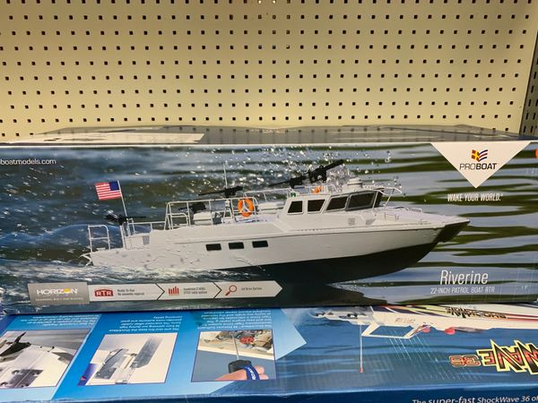 "22"" Riverine R/C Patrol Boat Ready-to-Run"
