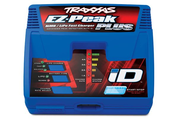 Traxxas EZ-Peak Plus 4-amp NiMH/LiPo Fast Charger with iD® Auto Battery ID #2970