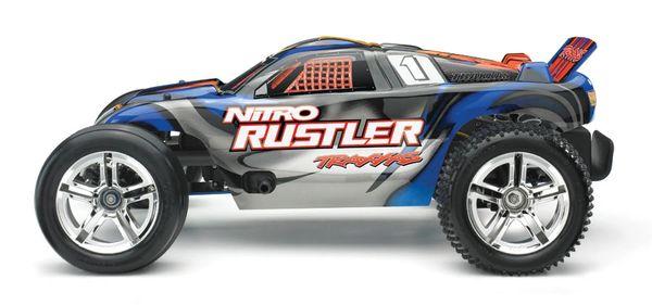 Traxxas NITRO Rustler 1/10 Scale 2WD Stadium Truck