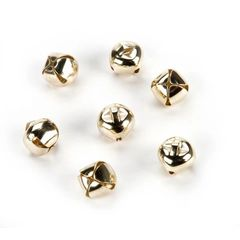 "Gold Jingle Bells 3/8"" 72 pieces"