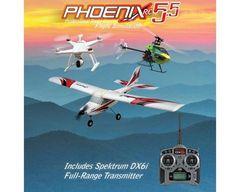 Runtime Games Phoenix R/C Pro Simulator V5.5 w/DX6i Transmitter (RTM55R6630)