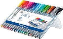 Staedtler Triplus Fineliner Point Pens .3mm 20pc. Set (SB20A603)
