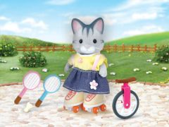 Calico Critters Outdoor Sports Fun Lauren Fisher Cat Unicycle