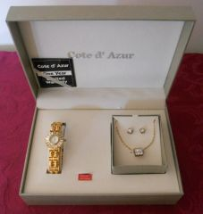 Cote d' Azur Women's Watch/Jewelry Set