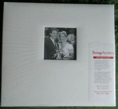 White Leather 12x12 Postbound Album with Window