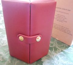 Avon 2003 Burgundy Geometric Jewelry Box