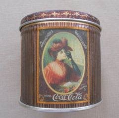 Coca-Cola 1990 Tin Canister