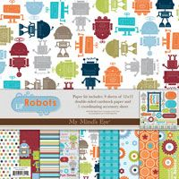 Lil' Robots My Mind's Eye Paper Kit
