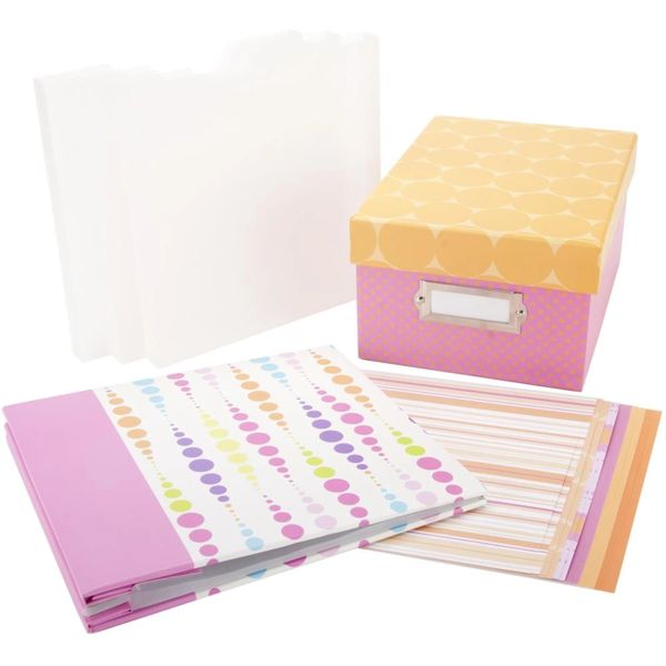 "Album & Paper Storage Set 8""X8"" Celebration Pink"