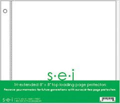 SEI - Preservation Series - 8 x 8 Page Protectors - 10 Pack