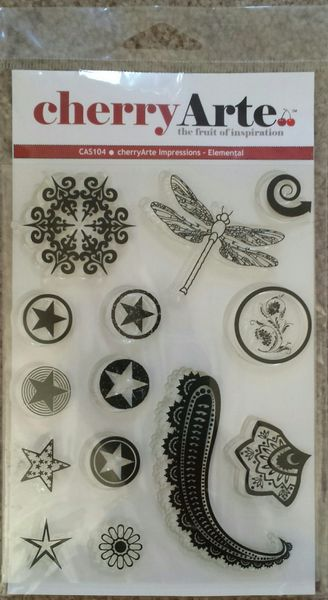 Cherry Arte Impressions Elemental Clear Stamps