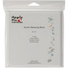 "Apple Pie Memories Acrylic Stamp Block 6"" x 6"""