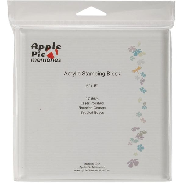 "Apple Pie Memories Acrylic Stamp Block 6"" x 6"""