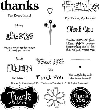 Technique Tuesday-Thanks for Everything Stamp Set