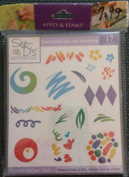 See D's-Bold Backgrounds Rubber Stamp Set