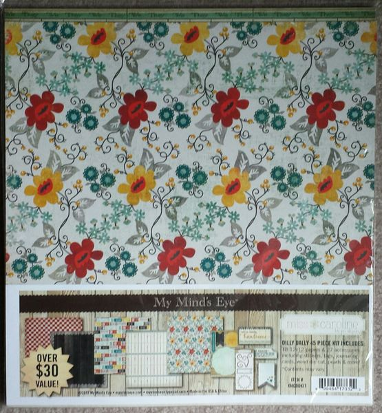 MISS CAROLINE DILLY DALLY MY MIND'S EYE PAPER & ACCESSORIES PACK