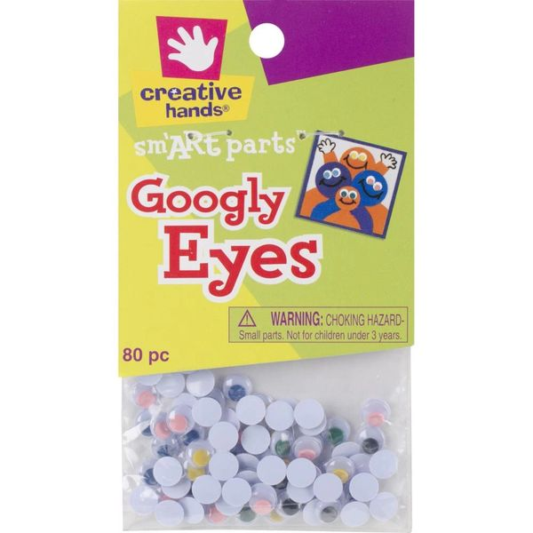 Glue-On Googly Eyes 7mm 80/Pkg